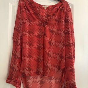 Tops - Red Design Blouse